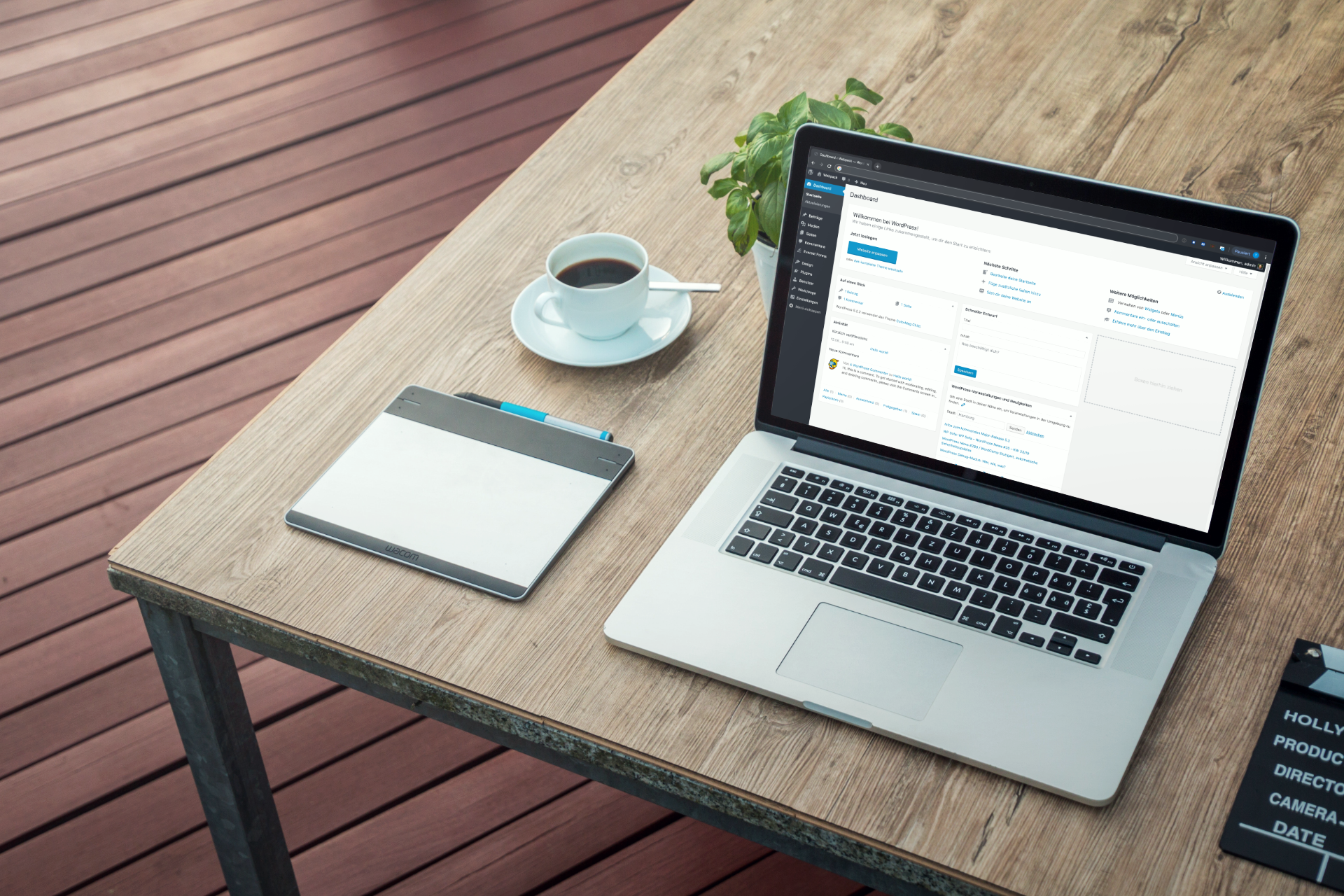 WordPress-Backend auf einem MacBook